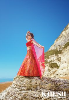 Reign in red with this piece from Style Rooms  For appointments please call +44(0)7858 690 827  Makeup: Riana MUA - Makeup Training Academy Hair:Shamalah Jewellery:Anees malik Location:Durdle Door