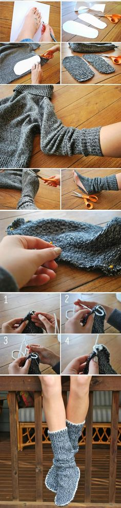 Who doesn't like comfy sweater socks? This is definitely next on my to-make list
