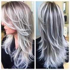 chocolate and silver hair color                                                                                                                                                                                 More