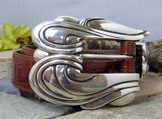 Keiselstein-Cord Sterling Silver & Alligator Leather 'Blossom' 3 Piece Belt Set! #KieselsteinCord