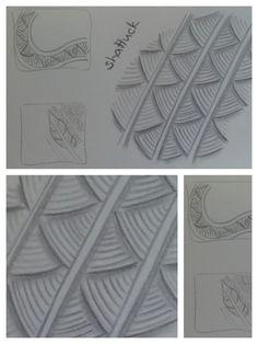 """zentangle patterns: shattuck - gefunden in """"Freude mit Zentangle. Der Einsteigerkurs"""" (Buch)"""