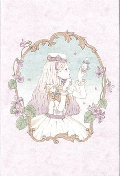 """""""Girl on her way to the Moon, Violets and Stars with Sugar"""" Postcard from Imai Kira (#PC80) - Lolita Desu"""