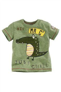 Buy Green Mr Croc T-Shirt (3mths-6yrs) from the Next UK 5ab4363cb971
