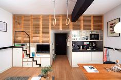 Spacious Micro-Apartment for the Global Nomad: Zoku Loft in Amsterdam - http://freshome.com/spacious-micro-apartment-for-the-global-nomad-zoku-loft-in-amsterdam/