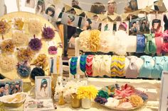 """Craft fair display ideas (love the pictures of real people """"models"""" in accessories"""