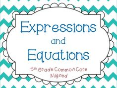 Expressions, Variables, and Equations Lessons: I use this PowerPoint lesson to teach students about expressions, variables, and equations. It discusses various numeracy vocabulary words, and provides students with various opportunities to practice writing expressions and solving equations.