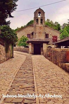 This is one of our pins highlighting the country/civilization: This pin had a picture of the Countryside in Greece.Church in Monodendri, Zagoroxoria, Epirus, Greece Beautiful Islands, Beautiful Places, Travel Around The World, Around The Worlds, Myconos, Paradise On Earth, Greece Travel, Greek Islands, Crete
