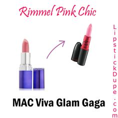 Spring dupes: Rimmel Pink Chic dupe for MAC Viva Glam Gaga