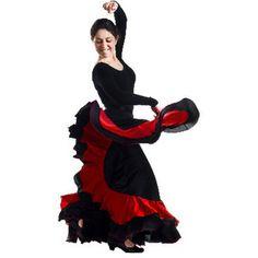 Spanish Flamenco Dancer Dance Costumes