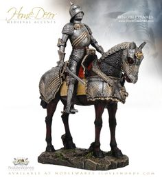 NobleWares Medieval Knight mounted on Horse 8504 Pacific Trading