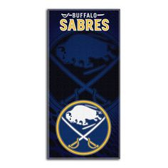 Buffalo Sabres NHL Fiber Reactive Beach Towel (Emblem Series) (28in x 58in)