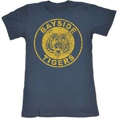 b19dd59a Saved By The Bell - Womens Bayside Tigers T-Shirt Tiger Shirt, Saved By