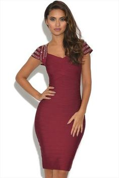 Just had to pin this Luxe Embellished Bandage Dress from www.vestry.com  eae715e6b03