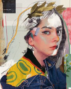 Ricky Linn Art And Illustration, Graphic Design Illustration, Collage Illustrations, Collage Portrait, Collage Art, Collage Design, A Level Art, Art Hoe, Digital Art Girl