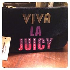 "Juicy Couture clutch/large wristlet Wow factor!!! Cute ""Viva La Juicy"" Juice Couture clutch/large wristlet Juicy Couture Bags Clutches & Wristlets"