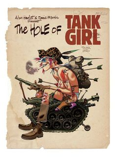 'The Hole of Tank Girl' Poster Print with art by Jamie Hewlett