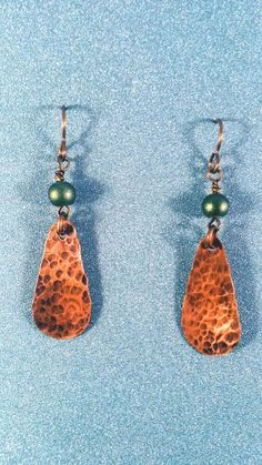 Sassy handcrafted copper earrings. Be the only one to have such a great everyday pair of earrings. They go great with any style of clothes.