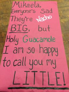 Mexican/fiesta themed big little reveal!