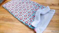 Dog sleep sack tutorial. Burrow bag. Dachshund snuggle blanket
