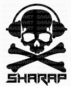 Skull vector cdr, ai, pdf, png (300 dpi), svg, epa, dxf de Garageartdesign en Etsy