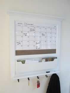 ... on Pinterest | Wall mail organizer, Organizers and Magnetic whiteboard