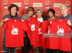 One Direction (left to right) Harry Styles, Liam Payne, Zayn Malik, Louis Tomlinson, Niall Horan during the 2011 Heart FM Have a Heart appeal, raising money for Children's Hospices UK, at the Heart FM studios in Leicester Square, central London.Picture date: Friday March 4, 2011.