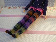 Chaussettes à rayures multicolores pour par EmmaFlorenceParis