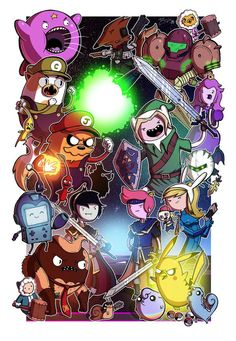 'Adventure Time' Cast Drawn As Popular Movie, TV Show & Video Game Characters