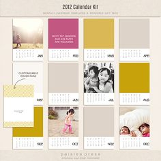 Oscraps :: Shop by Designer :: Paislee Press :: 2012 Calendar Kit