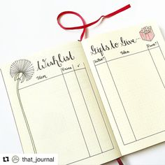 I posted this way back when I first started on this bullet journal journey so I thought I would share it again as it is approaching Christmas, and you may not have seen it! Hope everyone is having a lovely weekend! . . #bulletjournal #bulletjournaljunkies #bujo #bujojunkies #journal #journaling #wishlist #dandelion #present #giftideas  #rydercarroll #present #calligraphy #cursive #giftplanning #giftgiving