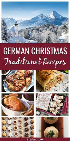 German Christmas Food, Christmas Dishes, Christmas Cooking, Christmas Treats, Christmas Foods, German Christmas Traditions, Christmas Parties, Christmas Christmas, Christmas Food Dinner Family Traditions