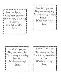 Cute Mothers Day Poem From Kinder Children Short Mothers Day Poems Cute  Moms Day Poems For