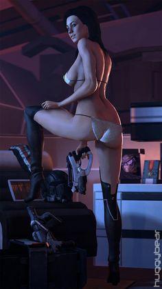 Mass Effect. Miranda's new uniform. Digital Art by HuggyBear742