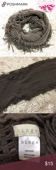 Frayed Infinity Scarf Hinge frayed infinity scarf. Originally purchased from Nordstrom. One size. Never worn. Feel free to ask questions! Nordstrom Accessories Scarves & Wraps