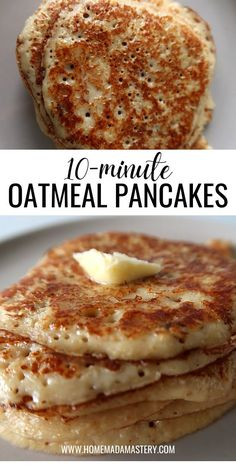 Healthy Oatmeal Pancakes, Healthy Pancake Recipe, Yogurt Pancakes, Healthy Oatmeal Recipes, Banana Pancakes, Yogurt Recipes, Banana Bread Recipes, Baby Food Recipes, Snack Recipes