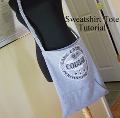 From Sweatshirt to Sweet Tote – a Tutorial – Maiden Jane