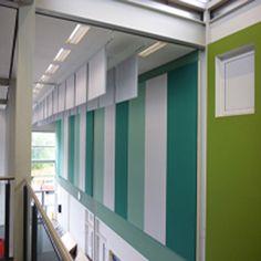 We area unit Winfab Interiors Asian nation Pvt Ltd, {new delhi Acoustic Fabric, Acoustic Wall Panels, Area Units, Interiors, Curtains, Spectrum, Modern, Asian, India