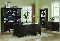 Garson Home Office Home Office Set by Coaster - Get it delivered free directly to your home with a great price from Coleman Furniture. Home Office Furniture Sets, Corner Furniture, Home Office Desks, Home Furniture, Furniture Design, Furniture Ideas, Online Furniture, Luxury Furniture, Coaster Fine Furniture