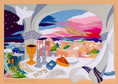 "My original tapestry ""Shabbat Evening"""