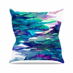 Teal Brown 20 by 20 Kess InHouse Art Love Passion Squirrel Throw Pillow