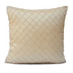 """Cream Pillow Cover. Size: 18""""x18"""" Fabric: Silk. Visit https://www.etsy.com/shop/SHPillows?ref=l2-shopheader-name to see the rest of our collection. Thank you!!"""