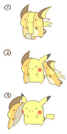Pikachu, Raichu (by カフェ [kafe], Pixiv Id Pokemon Comics, Pokemon Memes, Mega Pokemon, Pokemon Fan Art, Pichu Pikachu Raichu, Cute Pikachu, Cute Animal Drawings, Cute Drawings, Pokemon Stories