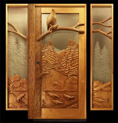 Wow!  These hand carved wood doors are beautiful!  The website these are from has amazing stuff!