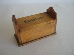 Vintage Dollhouse Miniature  German Wooden Potato Box by TheToyBox