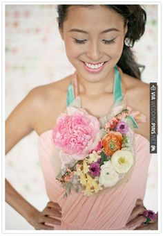 floral necklace! | CHECK OUT MORE IDEAS AT WEDDINGPINS.NET | #weddings #weddingflowers #weddingbouquets #bouquets