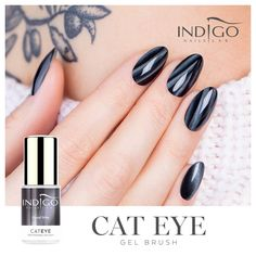 Brush Good Nite by Indigo Educator Paulina Walaszczyk, Łódź Cat Eye Gel, Cat Eye Nails, Dream Catcher Nails, Nail Lab, Manicure, Indigo Nails, Best Salon, Fall Nail Art, 5 Ml