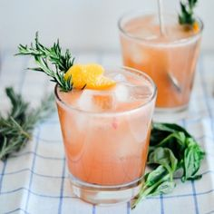 Grapefruit Bourbon Cocktail with Basil Syrup