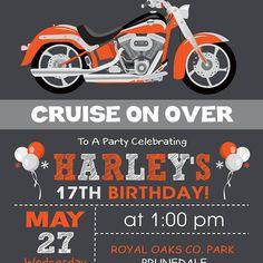 Motorcycle Birthday Party package Digital printable | Etsy Motorcycle Birthday Parties, Biker Birthday, Motorcycle Party, Joint Birthday Parties, Photo Invitations, Printable Invitations, Birthday Invitations, Biker Party, 17th Birthday
