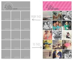 simple as that: Instagram Collage Templates for use with Project Life