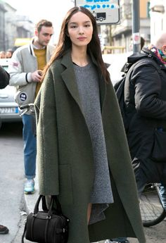 Image result for oversized coat street style